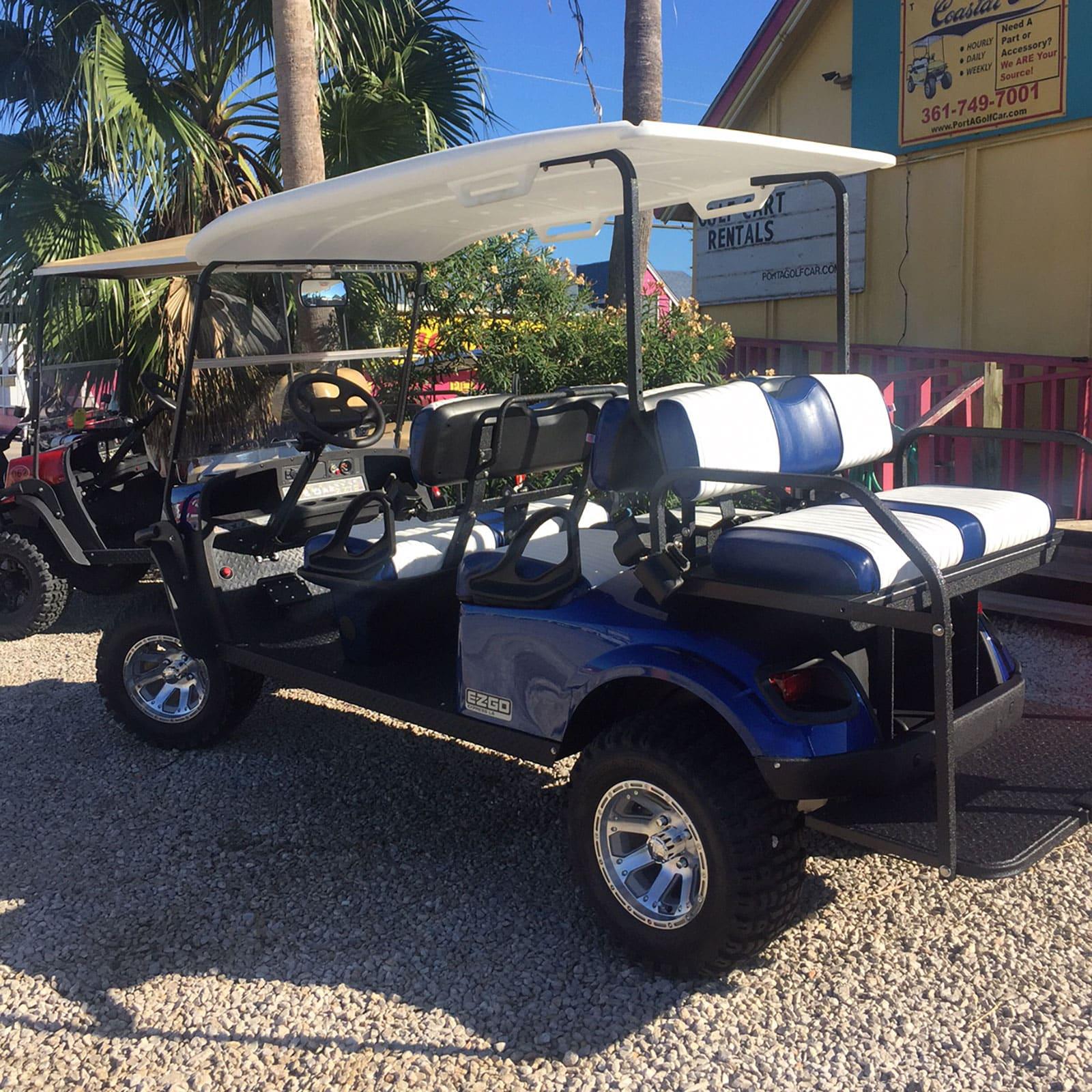 EZGO Electric Blue Golf Car