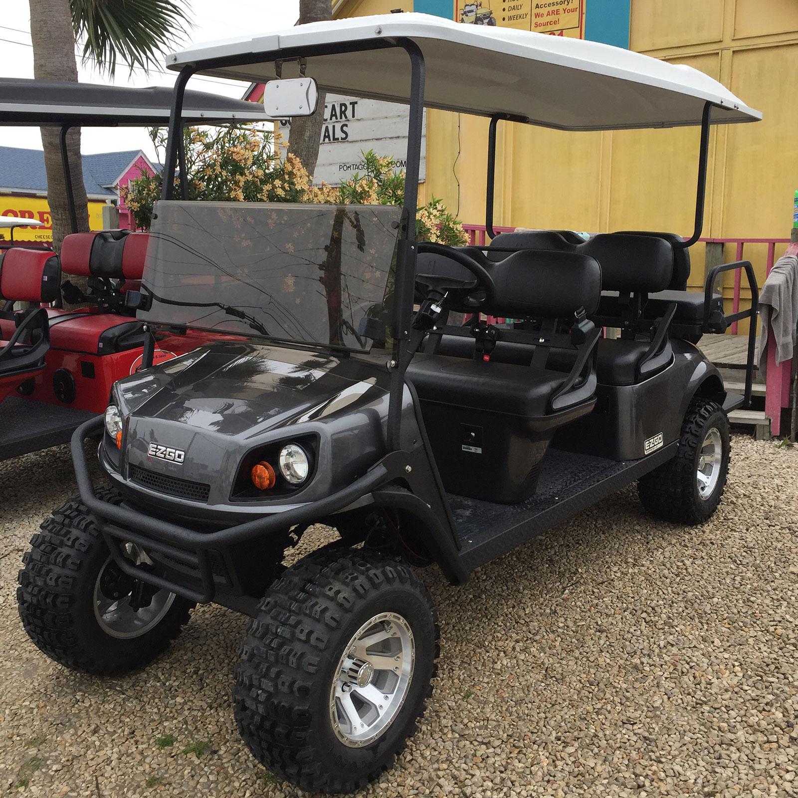 Charcoal EZGO Golf Car