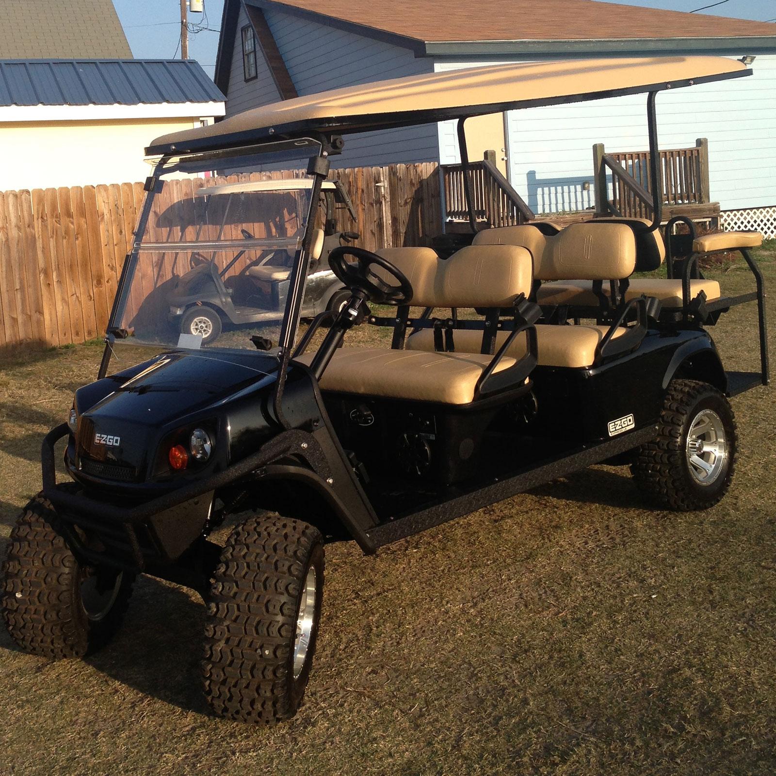 Black EZGO Golf Car