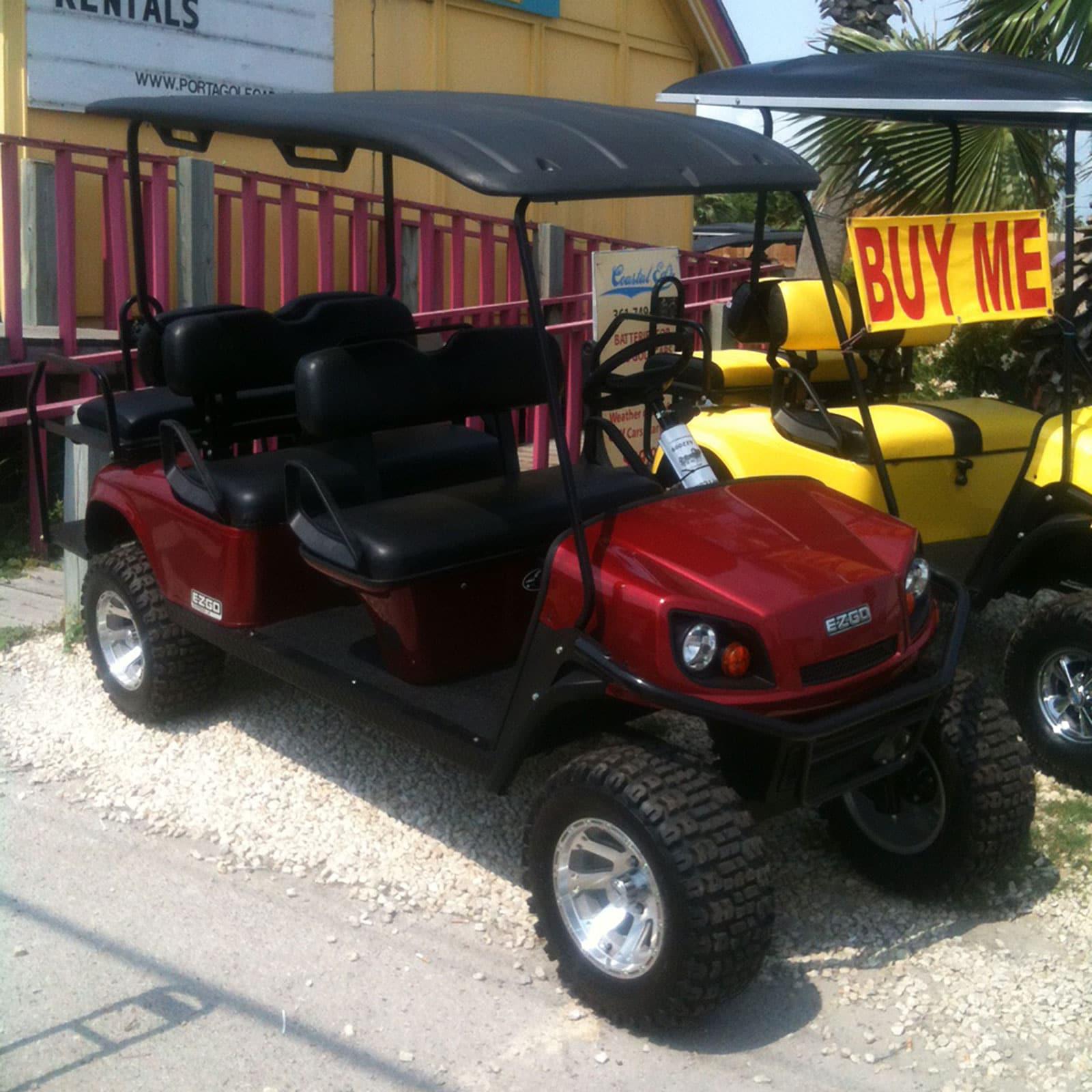 Inferno Red EZGO Golf Car