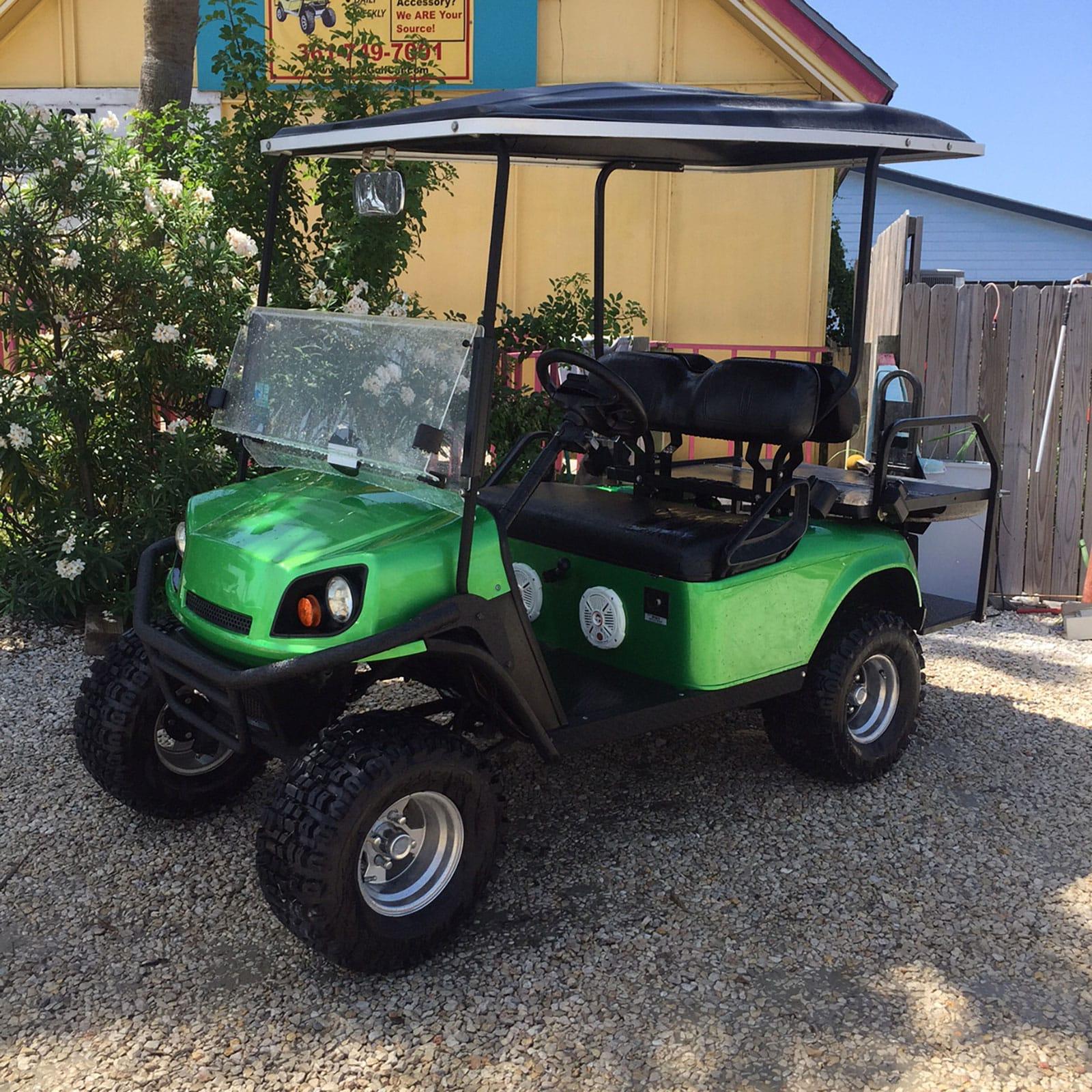 Monster Green EZGO Golf Car