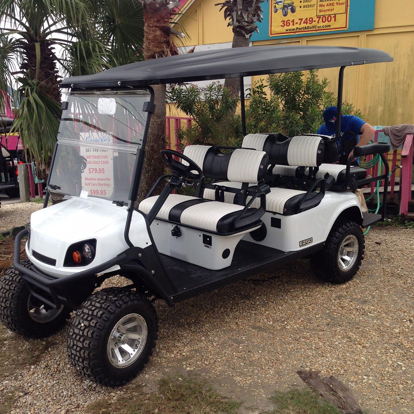 Pure White EZGO Golf Car